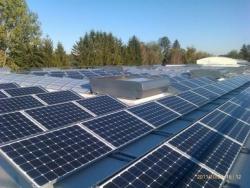 95 kWp auf Industriefolienleichtbaudach in Schwabmünchen,